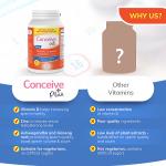 Conceive Plus Pack de mobilidade – Fertilidade masculina 60 + Suplemento de motilidade espermática 60 cápsulas