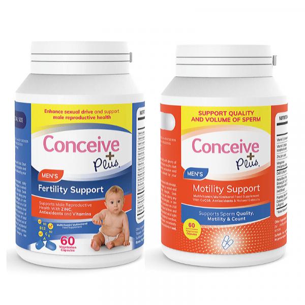 Conceive Plus Pack de mobilidade - Fertilidade masculina 60 + Suplemento de motilidade espermática 60 cápsulas